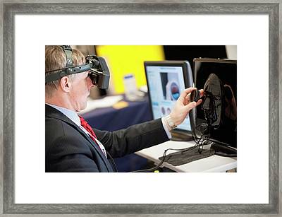 Optometry Virtual Reality Demonstration Framed Print by Dan Dunkley