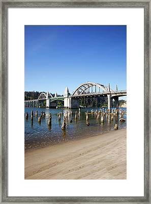 Or, Florence, Siuslaw River Bridge Framed Print