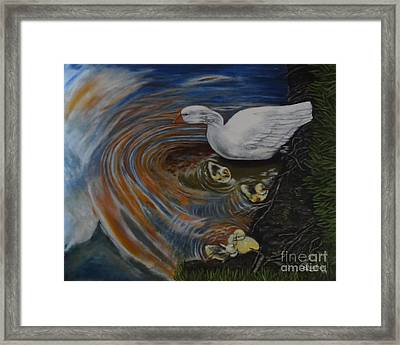 Orange Baby Ripples Framed Print