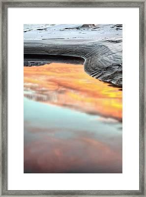 Orange Beach Framed Print