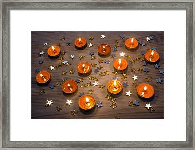 Orange Candles Framed Print