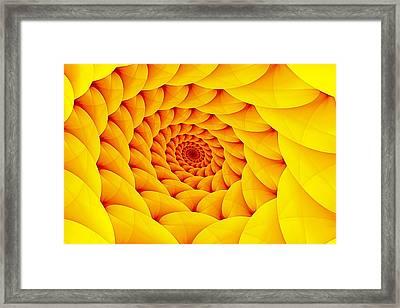 Yellow Pillow Vortex Framed Print
