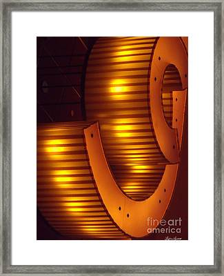 Orange Swirl 9 Framed Print