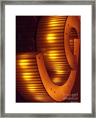 Orange Swirl 9 Framed Print by Lyric Lucas