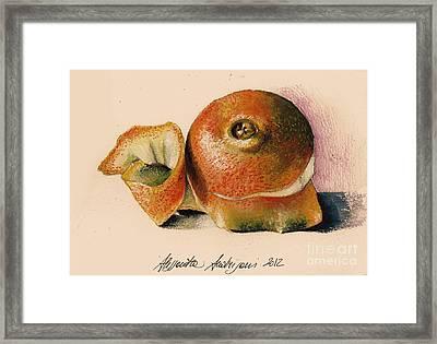 Orange..navel Framed Print by Alessandra Andrisani