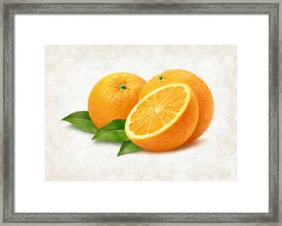 Oranges Framed Print by Danny Smythe