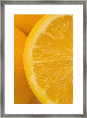Oranges Framed Print by Darren Greenwood