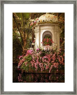 Orchid Garden Framed Print by Jessica Jenney