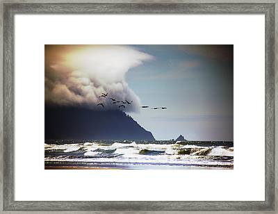 Ocean Framed Print featuring the photograph Oregon Coast  by Aaron Berg