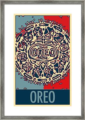 Oreo In Hope2 Framed Print by Rob Hans