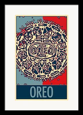 Oreo Mixed Media Framed Prints
