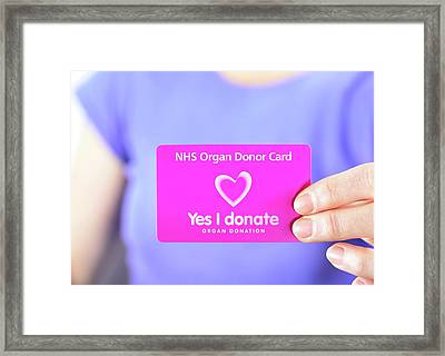 Organ Donor Card Framed Print