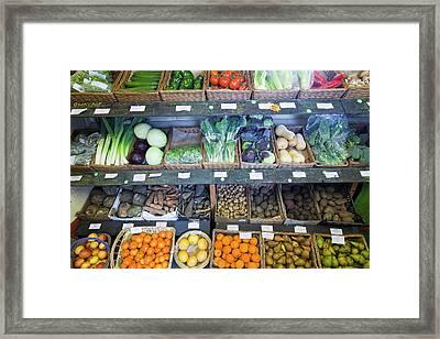 Organic Farm Shop Display Framed Print by Ashley Cooper
