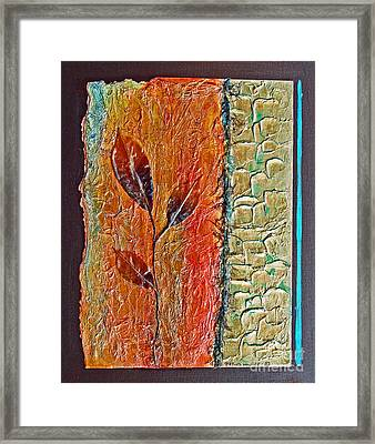 Framed Print featuring the painting Organic With Leaves by Phyllis Howard