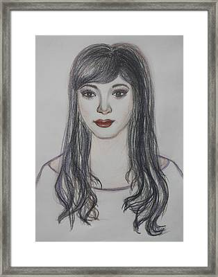 The Oriental Girl   Framed Print