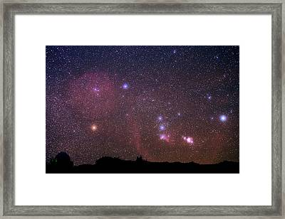 Orion Nebulae From The Canary Islands Framed Print by Babak Tafreshi