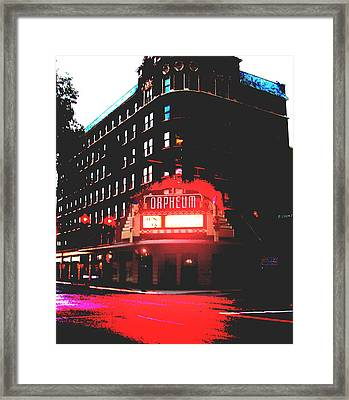 Orpheum Theater  Framed Print
