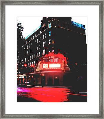 Orpheum Theater  Framed Print