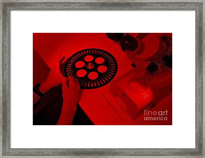 Osl Dating Research, Sample Plate Framed Print by Robbie Shone