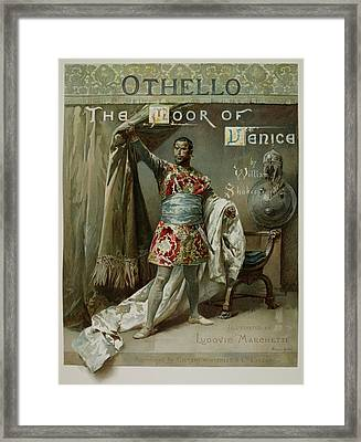 Othello. The Moor Of Venice Framed Print by British Library