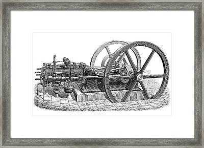 Otto Gas Engine Framed Print by Science Photo Library