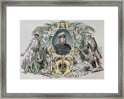 Otto-leopold Bismarck, Prince Framed Print by Prisma Archivo