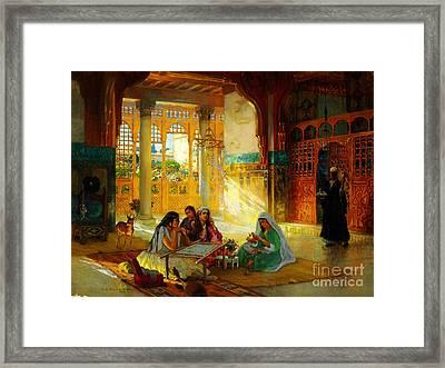 Ottoman Daily Life Scene Framed Print by Frederick Arthur Bridgman