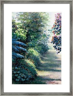 Our Garden Framed Print by Laila Awad Jamaleldin
