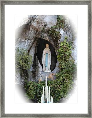 Our Lady Of Lourdes Grotto Framed Print
