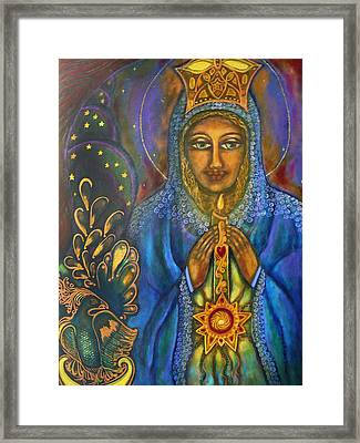 Our Lady Of Starglow Stillness Framed Print by Marie Howell Gallery