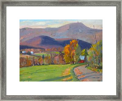 Framed Print featuring the painting Out Back by Len Stomski