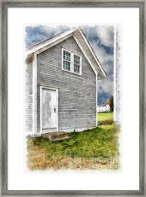 Out By The Woodshed Framed Print