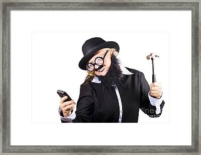 Out Of Service Mobile Telephone Framed Print by Jorgo Photography - Wall Art Gallery
