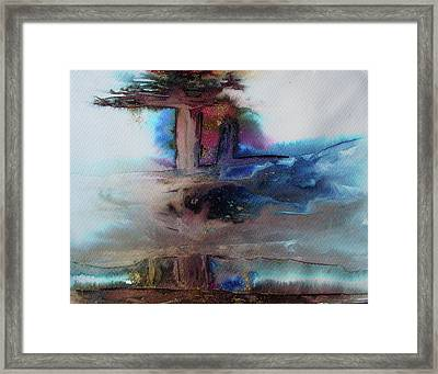 Framed Print featuring the painting Out Of The Mist by Mary Sullivan