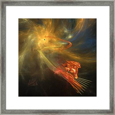 Out Of The Wormhole Framed Print by Gordon Engebretson