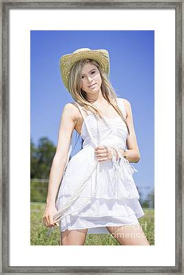 Outback Country Girl Framed Print by Jorgo Photography - Wall Art Gallery