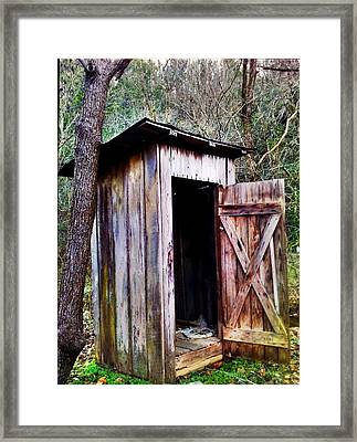 Outhouse Framed Print by Janice Spivey