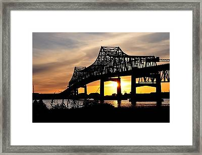 Over The Mississippi Framed Print