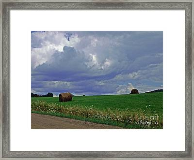 Over The Rise Framed Print