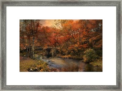 Framed Print featuring the photograph Over The River by Robin-Lee Vieira