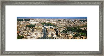 Overview Of The Historic Centre Of Rome Framed Print by Panoramic Images