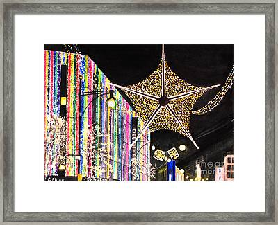 Framed Print featuring the painting Oxford Street London 2011 by Carol Flagg