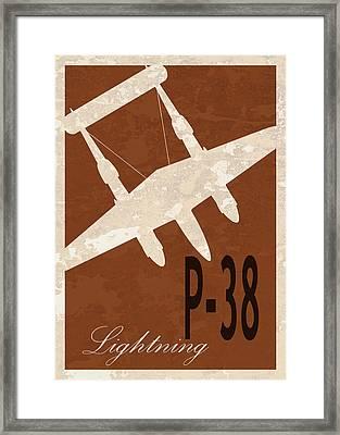 P-38 Lightning Framed Print by Mark Rogan