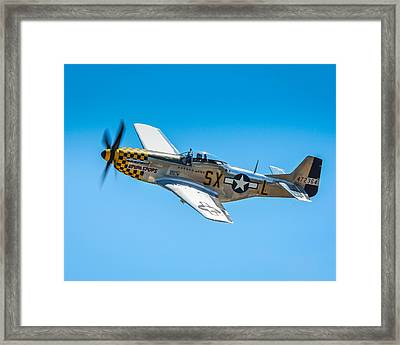 P-51 Mustang Framed Print by Puget  Exposure