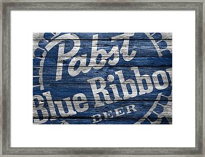 Pabst Blue Ribbon Framed Print