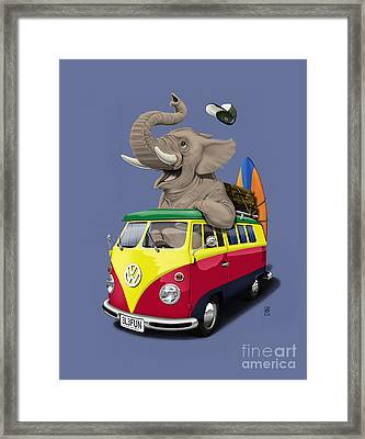 Pack The Trunk Colour Framed Print