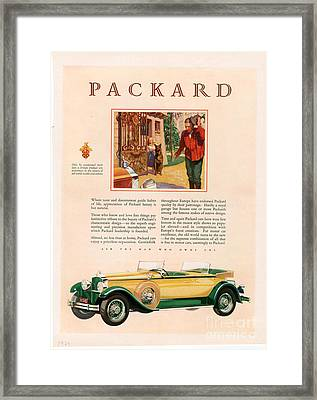 Packard 1928 1920s Usa Cc Cars Framed Print