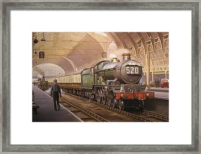 Paddington Arrival. Framed Print