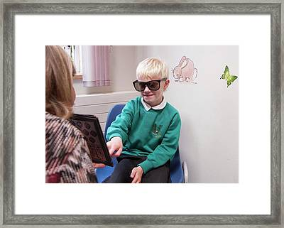 Paediatric Orthoptic Test Framed Print