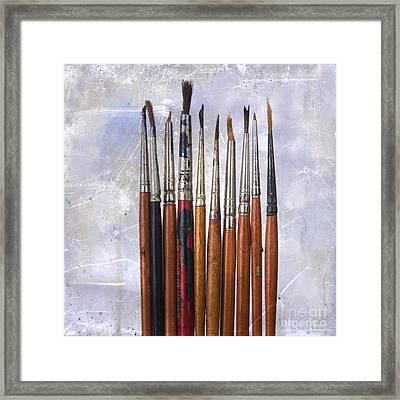 Paintbrushes Framed Print by Bernard Jaubert